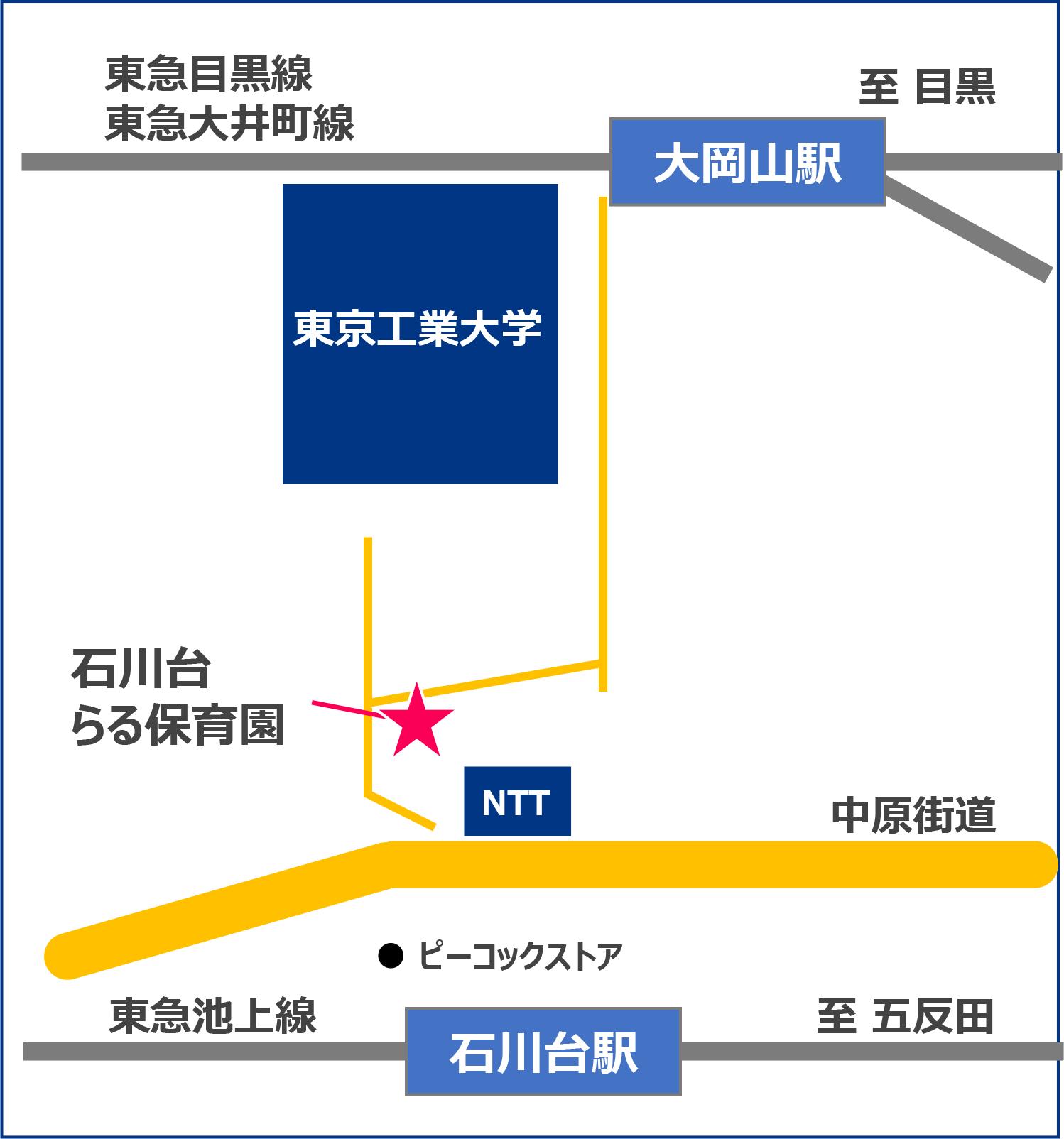 石川台らる保育園の地図