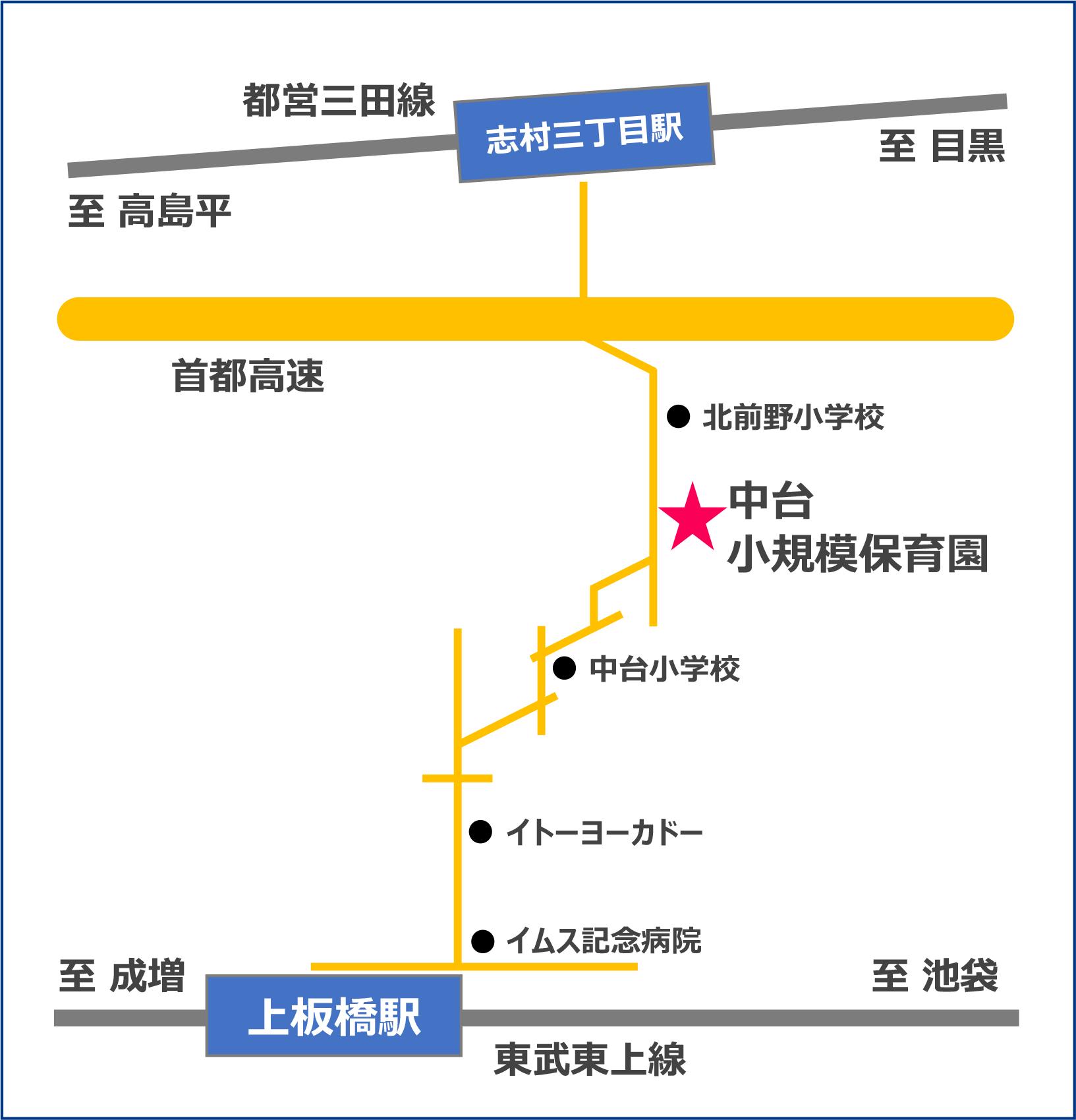 中台小規模保育園の地図